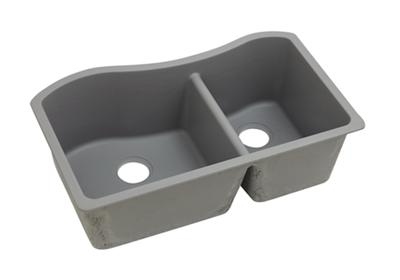 "Image for Elkay Quartz Classic 32-1/2"" x 20"" x 10"", Double Bowl Undermount Sink, Greystone from ELKAY"