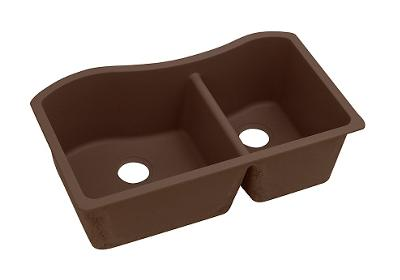 "Image for Elkay Quartz Classic 32-1/2"" x 20"" x 10"", 60/40 Double Bowl Undermount Sink, Mocha from ELKAY"