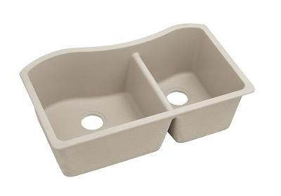 "Image for Elkay Quartz Classic 32-1/2"" x 20"" x 10"", 60/40 Double Bowl Undermount Sink, Putty from ELKAY"