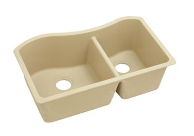 "Image for Elkay Quartz Classic 32-1/2"" x 20"" x 10"", 60/40 Double Bowl Undermount Sink, Sand from ELKAY"