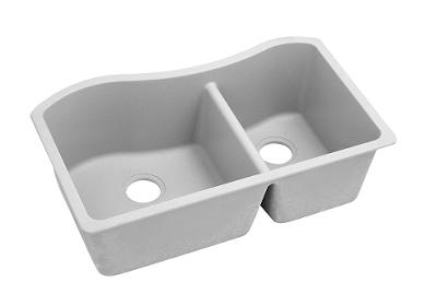 "Image for Elkay Quartz Classic 32-1/2"" x 20"" x 10"", 60/40 Double Bowl Undermount Sink, White from ELKAY"