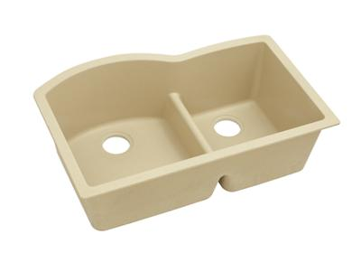 "Image for Elkay Quartz Classic 33"" x 22"" x 10"", Double Bowl Undermount Sink with Aqua Divide, Sand from ELKAY"