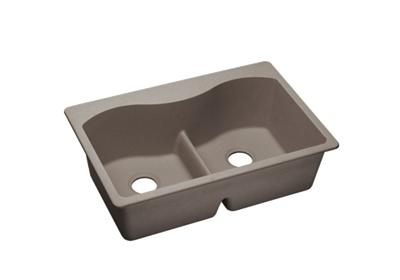 "Image for Elkay Quartz Classic 33"" x 22"" x 9-1/2"", Equal Double Bowl Top Mount Sink with Aqua Divide, Greige from ELKAY"