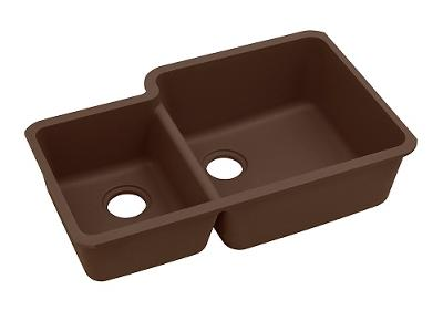 "Image for Elkay Quartz Classic 33"" x 20-11/16"" x 9"", Offset 40/60 Double Bowl Undermount Sink, Mocha from ELKAY"