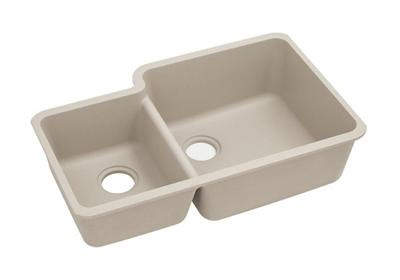 "Image for Elkay Quartz Classic 33"" x 20-11/16"" x 9"", Offset 40/60 Double Bowl Undermount Sink, Putty from ELKAY"