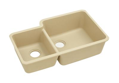 "Image for Elkay Quartz Classic 33"" x 20-11/16"" x 9"", Offset 40/60 Double Bowl Undermount Sink, Sand from ELKAY"