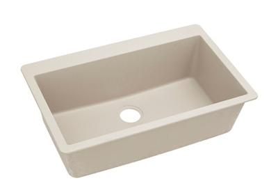 "Image for Elkay Quartz Classic 33"" x 20-7/8"" x 9-7/16"", Single Bowl Top Mount Sink, Bisque from ELKAY"