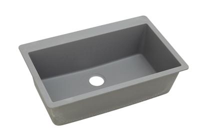 "Image for Elkay Quartz Classic 33"" x 20-7/8"" x 9-7/16"", Single Bowl Top Mount Sink, Greystone from ELKAY"