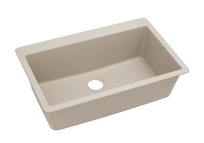 "Image for Elkay Quartz Classic 33"" x 20-7/8"" x 9-7/16"", Single Bowl Top Mount Sink, Putty from ELKAY"