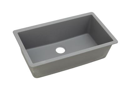 "Image for Elkay Quartz Classic 33"" x 18-7/16"" x 9-7/16"", Single Bowl Undermount Sink, Greystone from ELKAY"