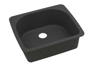 "Image for Elkay Quartz Classic 25"" x 22"" x 8-1/2"", Single Bowl Top Mount Sink, Black from ELKAY"