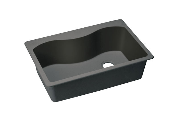 "Elkay Quartz Classic 33"" x 22"" x 9-1/2"", Single Bowl Top Mount Sink"