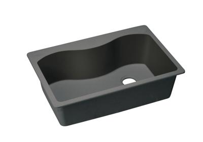 "Image for Elkay Quartz Classic 33"" x 22"" x 9-1/2"", Single Bowl Top Mount Sink, Black from ELKAY"