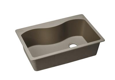 "Image for Elkay Quartz Classic 33"" x 22"" x 9-1/2"", Single Bowl Top Mount Sink, Greige from ELKAY"