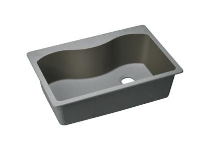 "Image for Elkay Quartz Classic 33"" x 22"" x 9-1/2"", Single Bowl Top Mount Sink, Greystone from ELKAY"