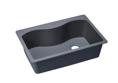 "Image for Elkay Quartz Classic 33"" x 22"" x 9-1/2"", Single Bowl Top Mount Sink, Dusk Gray from ELKAY"