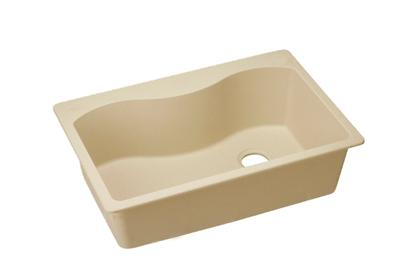 "Image for Elkay Quartz Classic 33"" x 22"" x 9-1/2"", Single Bowl Top Mount Sink, Sand from ELKAY"