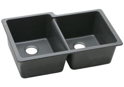 "Image for Elkay Quartz Classic 33"" x 20-1/2"" x 9-1/2"", Offset Double Bowl Undermount Sink from ELKAY"