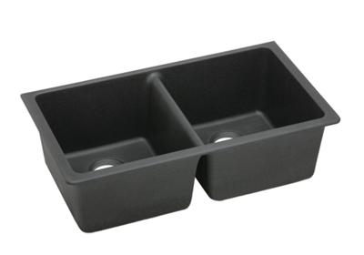 "Image for Elkay Quartz Classic 33"" x 18-3/4"" x 9-1/2"", Equal Double Bowl Undermount Sink, Black from ELKAY"