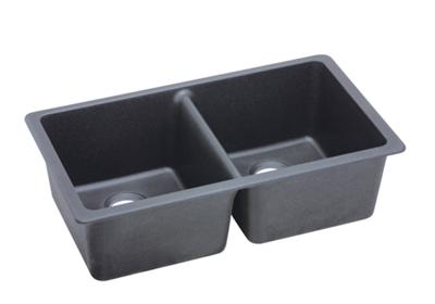 "Image for Elkay Quartz Classic 33"" x 18-3/4"" x 9-1/2"", Equal Double Bowl Undermount Sink, Dusk Gray from ELKAY"