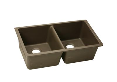 "Image for Elkay Quartz Classic 33"" x 18-1/2"" x 9-1/2"", Equal Double Bowl Undermount Sink, Mocha from ELKAY"