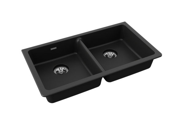 "Elkay Quartz Classic 33"" x 18-1/2"" x 5-1/2"", Double Bowl Undermount ADA Sink with Perfect Drain"