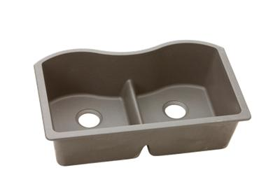 "Image for Elkay Quartz Classic 33"" x 20"" x 9-1/2"", Equal Double Bowl Undermount Sink with Aqua Divide, Greige from ELKAY"