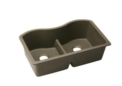 "Image for Elkay Quartz Classic 33"" x 20"" x 9-1/2"", Equal Double Bowl Undermount Sink with Aqua Divide, Mocha from ELKAY"