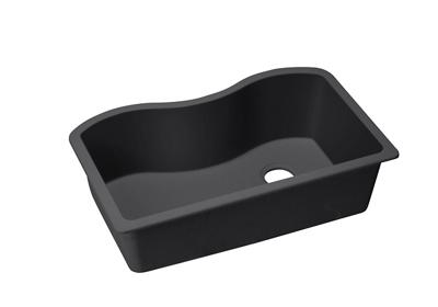 "Image for Elkay Quartz Classic 33"" x 20"" x 9-1/2"", Single Bowl Undermount Sink, Black from ELKAY"