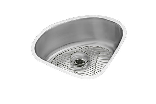 "Elkay Lustertone Stainless Steel 14"" x 14"" x 6-3/8"", Single Bowl Undermount Sink Kit"