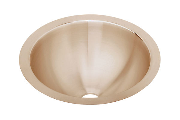 "Elkay CuVerro Antimicrobial Copper 14-3/8"" x 14-3/8"" x 6"", Single Bowl Undermount Bathroom Sink"