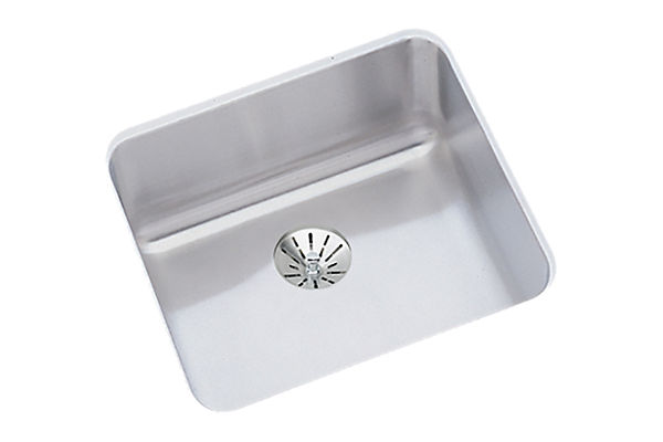 "Elkay Lustertone Classic Stainless Steel 14-1/2"" x 14-1/2"" x 5-1/2"", Single Bowl Undermount ADA Sink w/Perfect Drain"