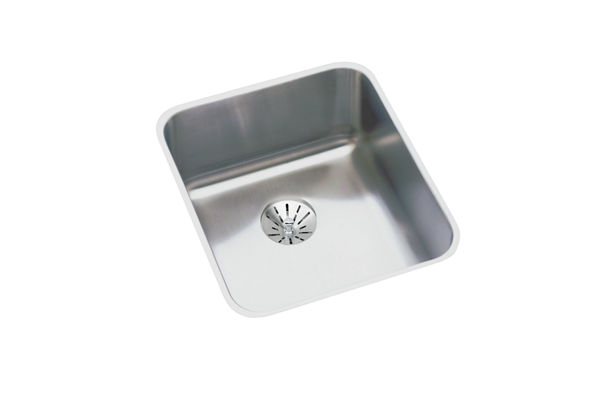 "Elkay Lustertone Classic Stainless Steel 16"" x 18-1/2"" x 5-3/8"", Single Bowl Undermount ADA Sink with Perfect Drain"
