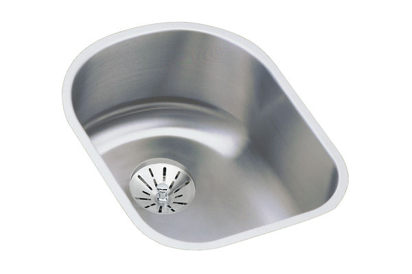"Elkay Lustertone Stainless Steel 14"" x 17-1/2"" x 7-1/2"", Single Bowl Undermount Sink with Perfect Drain"