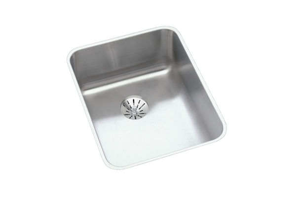 "Elkay Lustertone Stainless Steel 16-1/2"" x 20-1/2"" x 4-3/8"", Single Bowl Undermount ADA Sink with Perfect Drain"