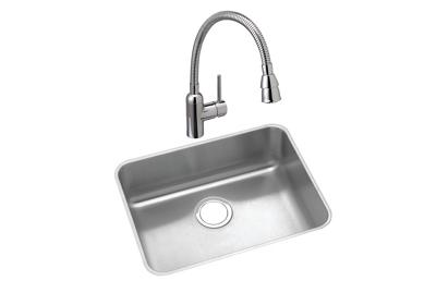 "Image for Elkay Lustertone Classic Stainless Steel 21-1/2"" x 18-1/2"" x 10"", Single Bowl Undermount Sink and Faucet Kit from ELKAY"