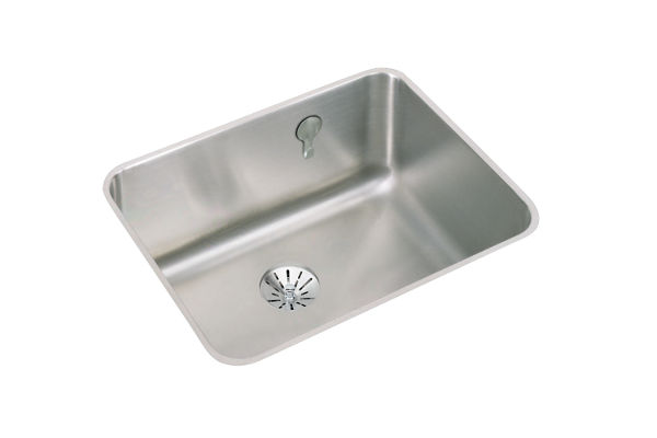 "Elkay Gourmet Stainless Steel 23-1/2"" x 18-1/4"" x 10"" Single Bowl Undermount Sink"