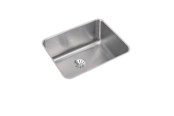 "Elkay Lustertone Classic Stainless Steel 23-1/2"" x 18-1/4"" x 10"", Single Bowl Undermount Sink with Perfect Drain"