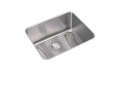 "Image for Elkay Lustertone Stainless Steel 23-1/2"" x 18-1/4"" x 10"", Single Bowl Undermount Sink Kit with Perfect Drain from ELKAY"