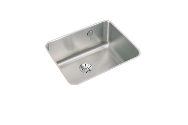 "Elkay Gourmet Stainless Steel 23-1/2"" x 18-1/4"" x 10"" Single Bowl Undermount Sink with Perfect Drain"