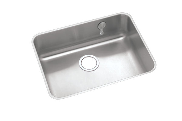 "Elkay Gourmet Stainless Steel 23-1/2"" x 18-1/4"" x 7-1/2"" Single Bowl Undermount Sink"