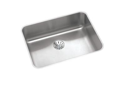 "Image for Elkay Lustertone Stainless Steel 23-1/2"" x 18-1/4"" x 7-1/2"", Single Bowl Undermount Sink with Perfect Drain from ELKAY"