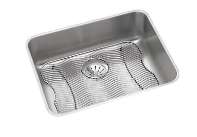 "Image for Elkay Lustertone Stainless Steel 23-1/2"" x 18-1/4"" x 7-1/2"", Single Bowl Undermount Sink Kit with Perfect Drain from ELKAY"