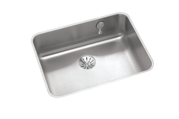 "Elkay Gourmet Stainless Steel 23-1/2"" x 18-1/4"" x 7-1/2"" Single Bowl Undermount Sink with Perfect Drain"