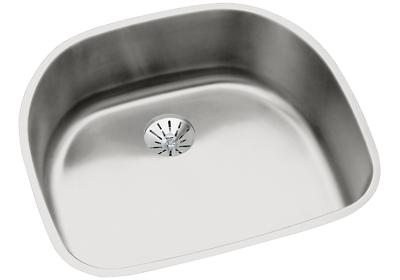 "Image for Elkay Lustertone Stainless Steel 23-5/8"" x 21-1/4"" x 7-1/2"", Single Bowl Undermount Sink with Perfect Drain from ELKAY"