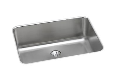 "Image for Elkay Gourmet Stainless Steel 26-1/2"" x 18-1/2"" x 10"", Single Bowl Undermount Sink with Perfect Drain from ELKAY"