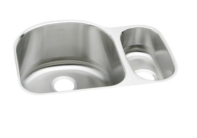 "Image for Elkay Lustertone Stainless Steel 26-3/4"" x 20"" x 10"", Offset 70/30 Double Bowl Undermount Sink from ELKAY"