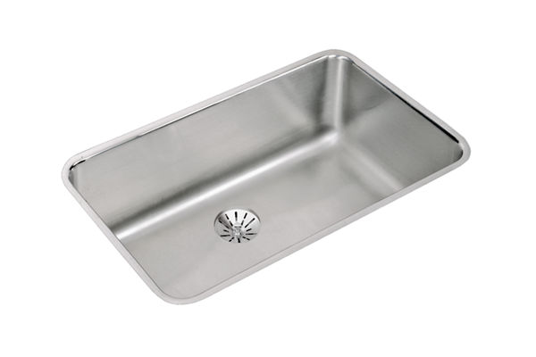 "Elkay Lustertone Stainless Steel 30-1/2"" x 18-1/2"" x 10"", Single Bowl Undermount Sink with Perfect Drain"