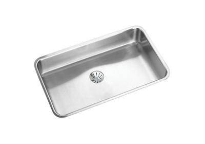 "Image for Elkay Gourmet Stainless Steel 30-1/2"" x 18-1/2"" x 7-1/2"", Single Bowl Undermount Sink Kit with Perfect Drain from ELKAY"