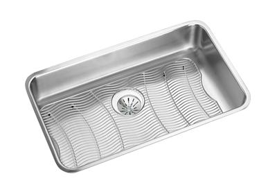 "Image for Elkay Lustertone Classic Stainless Steel 30-1/2"" x 18-1/2"" x 7-1/2"", Single Bowl Undermount Sink Kit w/Perfect Drain from ELKAY"